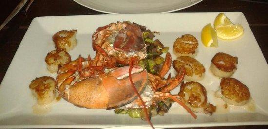 Restaurant Fishalicious : Kreeft met coquilles