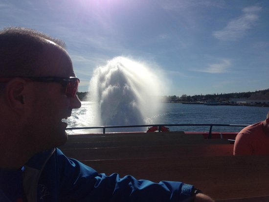 Star Line Mackinac Island Hydro-Jet Ferry: Loved the rooster tail!