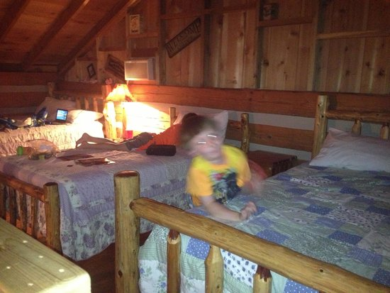 Silver Dollar City's Wilderness: Three beds in loft
