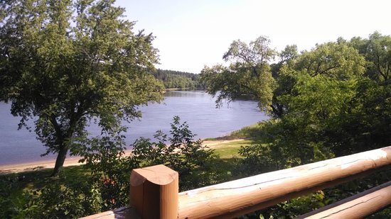 Cedar Lodge & Settlement: View of the Wisconsin River from our deck.