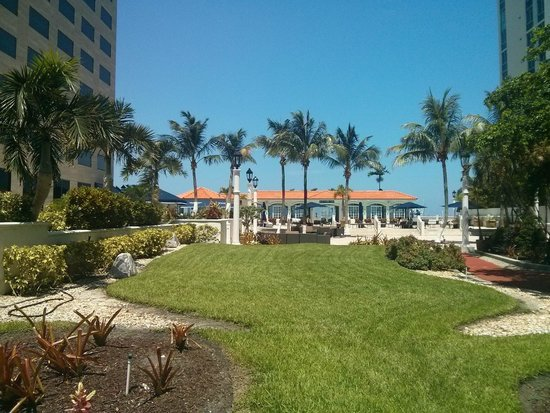 InterContinental Miami: The pool area from the jogging track