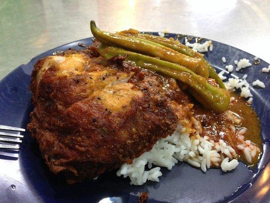 Nasi Kandar Line Clear: My meal - yummy yummy chicken!!!
