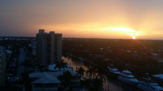 Residence Inn Fort Lauderdale Intracoastal/Il Lugano: The sunset