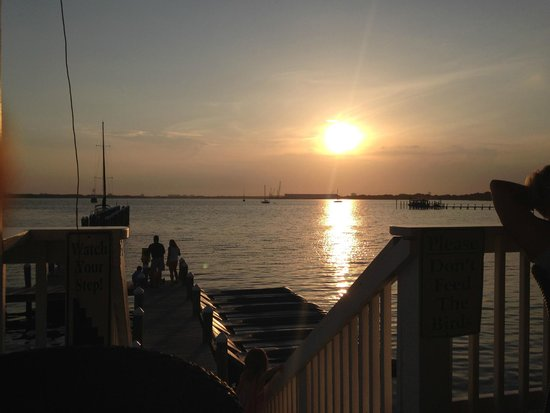 Uncle Ernie's Bayfront Grill: View of the bay at sunset