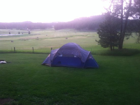 The Roost Resort: View from tent sites