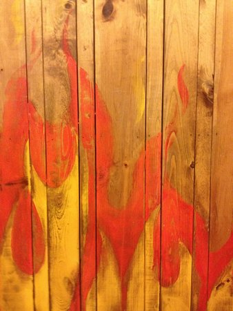 Firehouse BBQ: wall