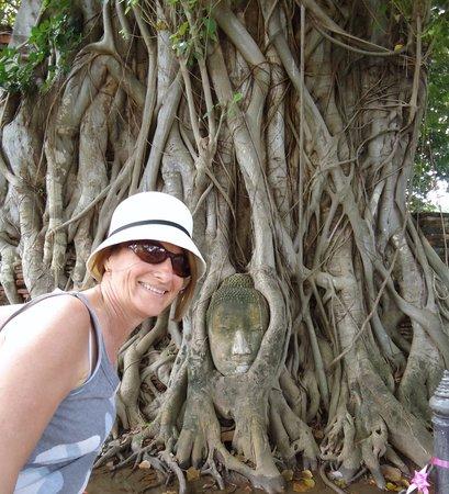 Ayutthaya Ruins : Cris y la cara
