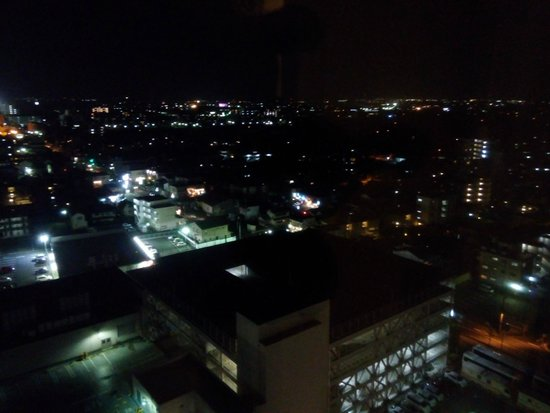 Loisir Hotel Toyohashi : night view from our room