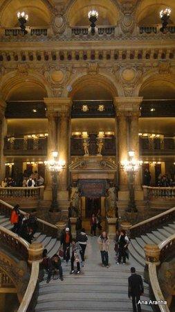 Opéra Garnier : Hall de entrada e seus balcões.