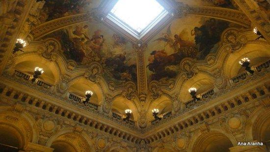Opéra Garnier : Teto do hall de entrada.