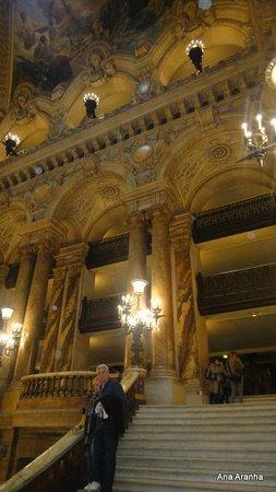 Opéra Garnier : Detalhe do hall de entrada.