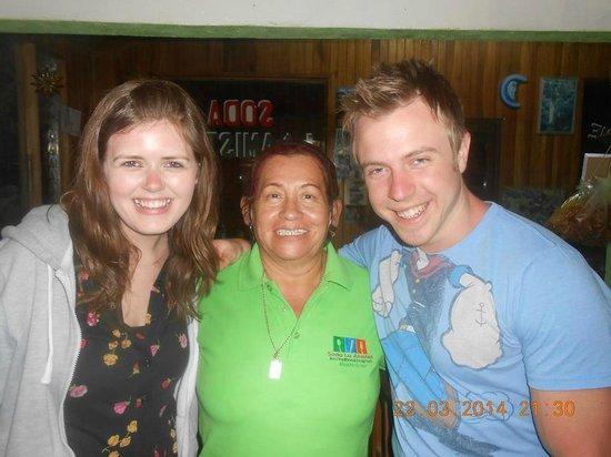 Soda La Amistad : the owner wtih exellent visits