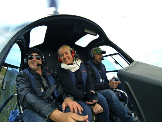 Ketchikan Helicopters: Inside the chopper during flight.