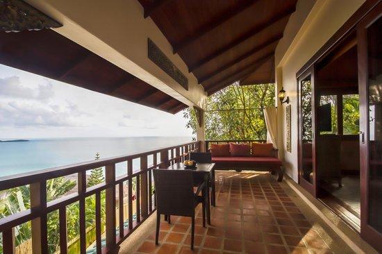 Sandalwood Luxury Villas: Orchid Villa Balcony View