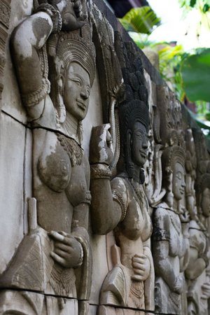Sandalwood Luxury Villas: A Relief Statue, One of Many on the Property