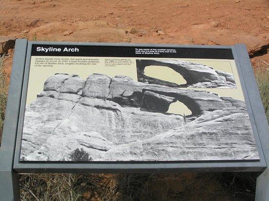 Skyline Arch: prima e dopo