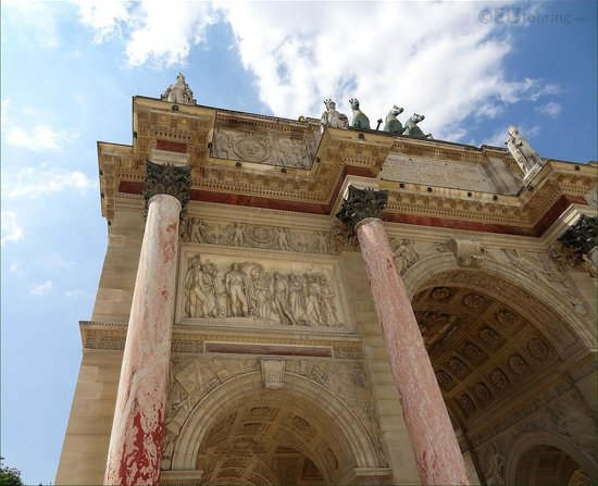 The Arc de Triomphe du Carrousel has some amazing architecture and marble work to admire.