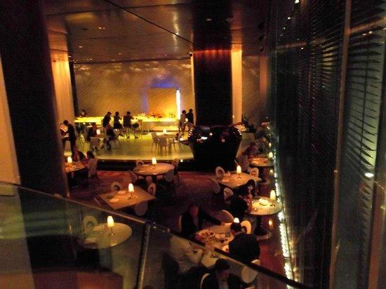 Felix: Restaurant from the bar upstairs.
