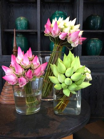 Shinta Mani Club : Beautiful flower arrangements everywhere!