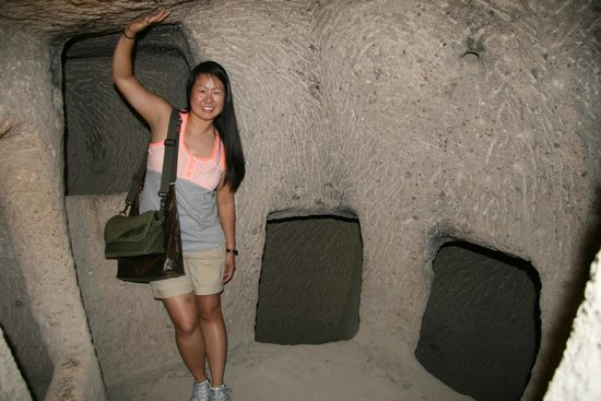 Kaymakli Underground City : Inside one of the rooms, most of them looked like this