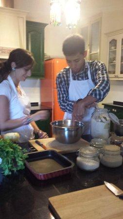 Beit Sitti : Husband Making Bread From Scratch