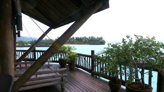 Pearl Farm Beach Resort: Malipano villa balcony with view