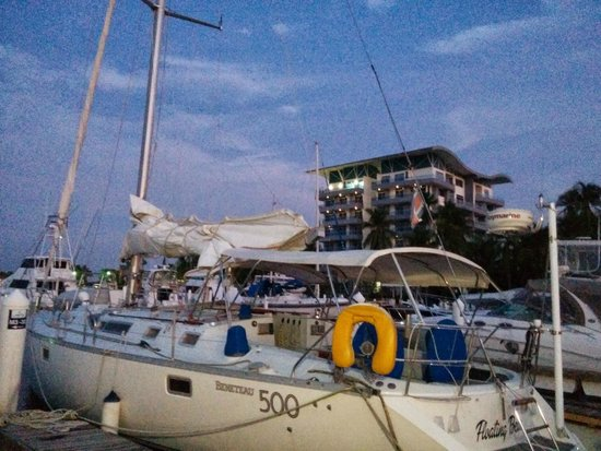 Puerto Azul Boutique Resort & Marina: Condo Tower and Marina