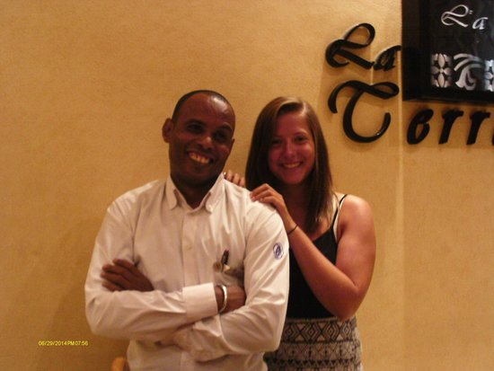 Aurora Oriental Resort Sharm El Sheikh: Sayed and Katie at the Italian restaurant in the hotel absolutely fantastic meal