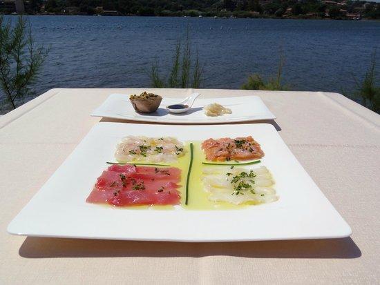 Hotel Don Cesar : Carpaccio de poissons