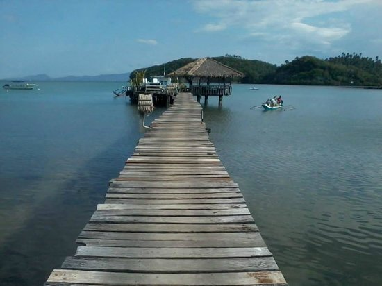 Fishermen's Cove : private pier..wood walkway along the mangrove forest