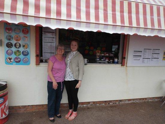 Nan's Kiosk: 'Nan' and one of her trusty helpers