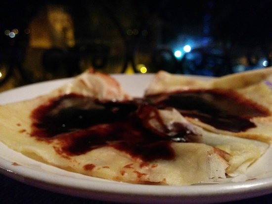 Aladdin Restaurant : Crepé de Chocolate (postre del menú))