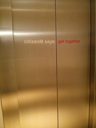 citizenM Amsterdam : Elevator doors