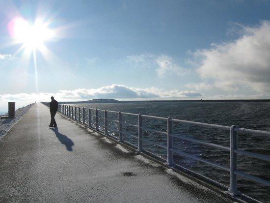 Precerpavaci Elektrarna Dlouhe Strane: Upper reservoir in winter
