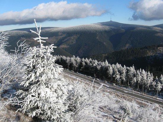 Precerpavaci Elektrarna Dlouhe Strane: View of Praded mountain from upper reservoir
