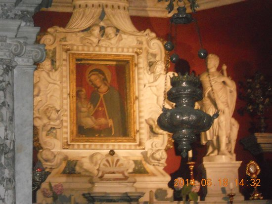 Gospa od Skrpjela (Our Lady of the Rocks) & St. George : икона Девы Марии
