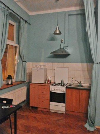 Nobel Suites: kitchen