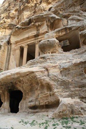 Beidha : construcciones en la piedra de Pequeña Petra