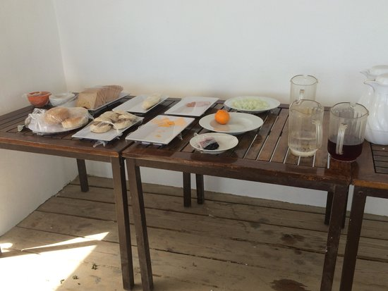 "The Beach House Hotel: ""Continental Breakfast"" aka plain bread, american cheese and Luke warm coffee"