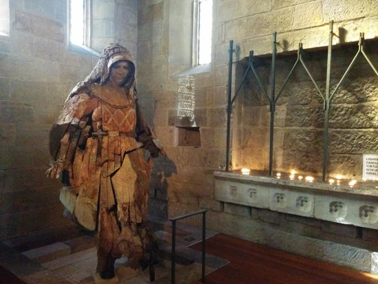 Catholic Old St. Stephen's Church (chapel): Wooden sculpture of St Mary Mackillop