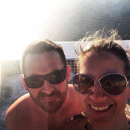 Anastasis Apartments: Sunset hot tub experience