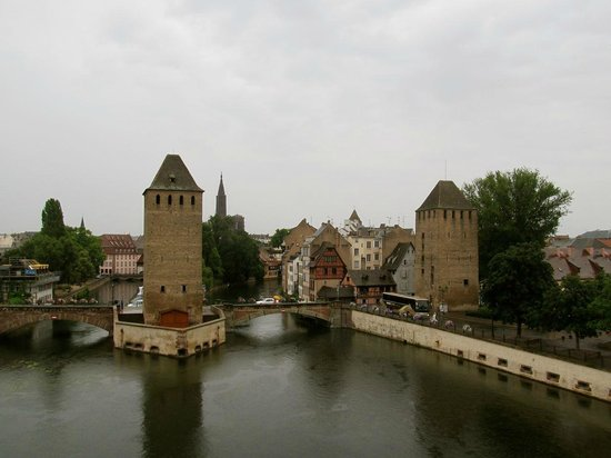 La Petite France: Ponts couverts from atop the Barrage Vauban