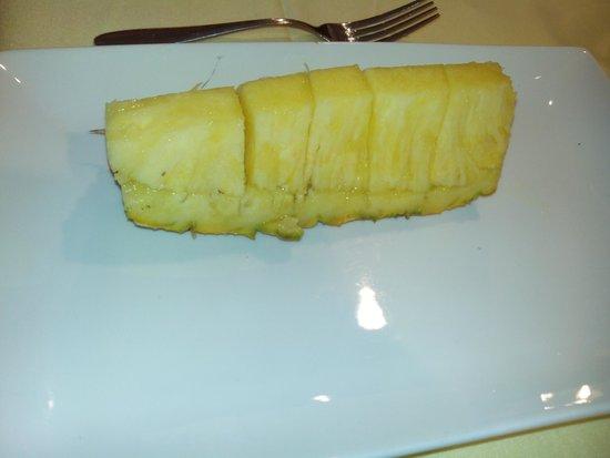 Restaurante La Tragantua: Piña natural