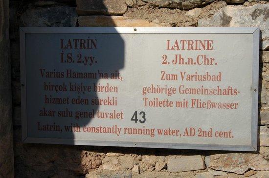 Vieille ville d'Éphèse : Behoort bij Latrines (info)