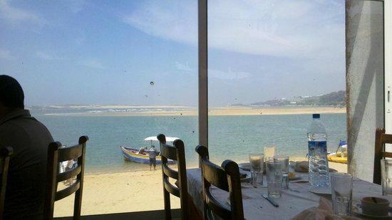 Araignee Gourmande : Oualidia la lagune vue du Restaurant l'Araignée Gourmande