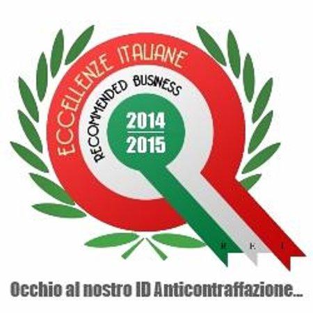 Ristorante Il Monte: Certificato Eccellenze Italiane 2014/2015