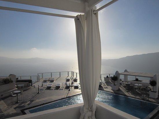 Rocabella Santorini Hotel & Spa: Ausblick auf Room Nr. 4