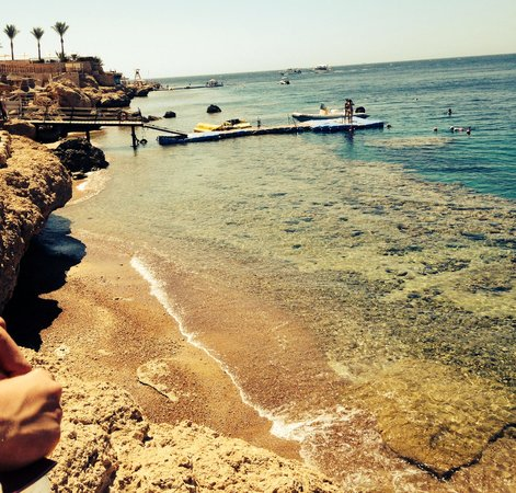 Sharm Plaza Hotel : The private beach jetti