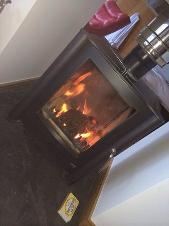 The Hideaway Experience: Log fire