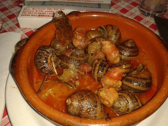 Restaurante Casa Lorenzo : los caracoles bien
